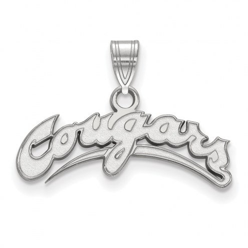 Washington State Cougars Sterling Silver Small Pendant