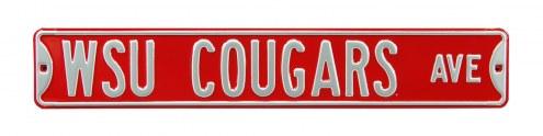 Washington State Cougars Street Sign