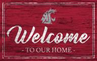 Washington State Cougars Team Color Welcome Sign