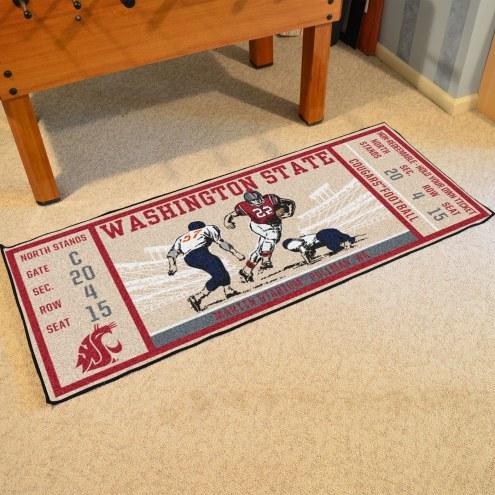 Washington State Cougars Ticket Runner Rug