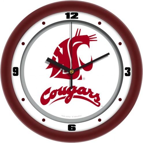 Washington State Cougars Traditional Wall Clock