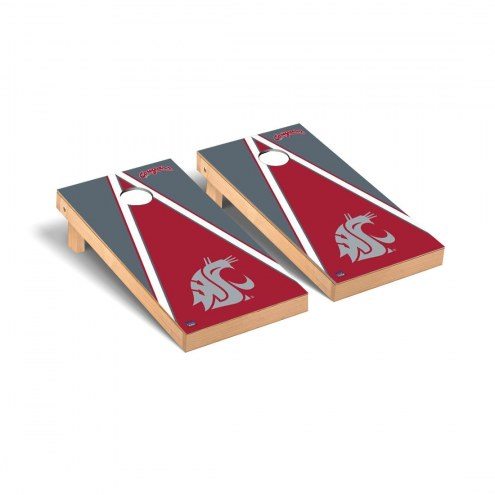 Washington State Cougars Triangle Cornhole Game Set