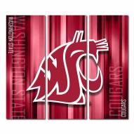 Washington State Cougars Triptych Rush Canvas Wall Art