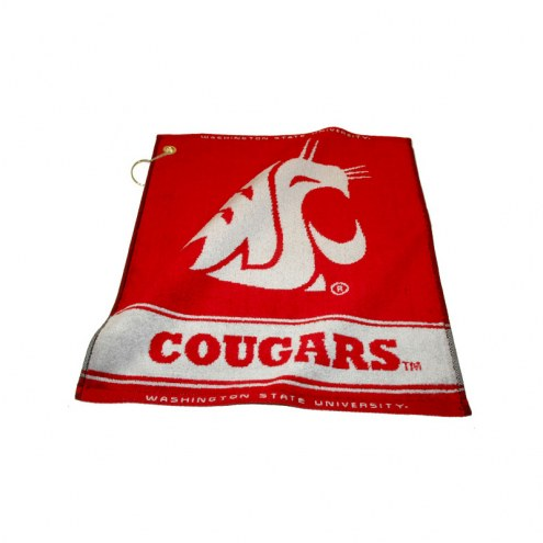 Washington State Cougars Woven Golf Towel