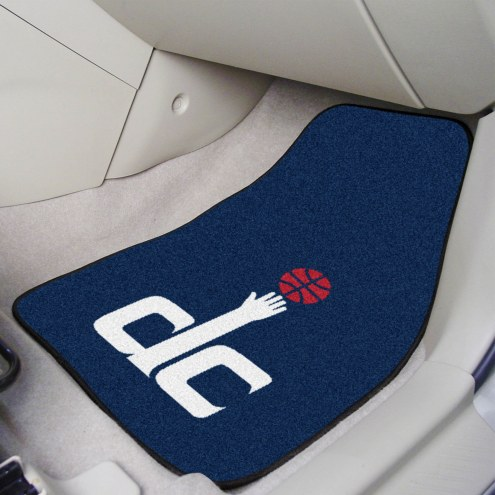 Washington Wizards 2-Piece Carpet Car Mats