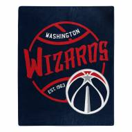 Washington Wizards Blacktop Raschel Throw Blanket