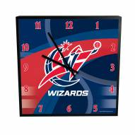 Washington Wizards Carbon Fiber Square Clock