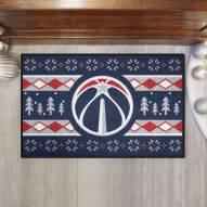 Washington Wizards Christmas Sweater Starter Rug