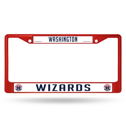 Washington Wizards Colored Chrome License Plate Frame