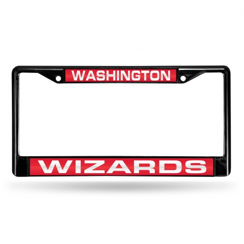 Washington Wizards Laser Black License Plate Frame