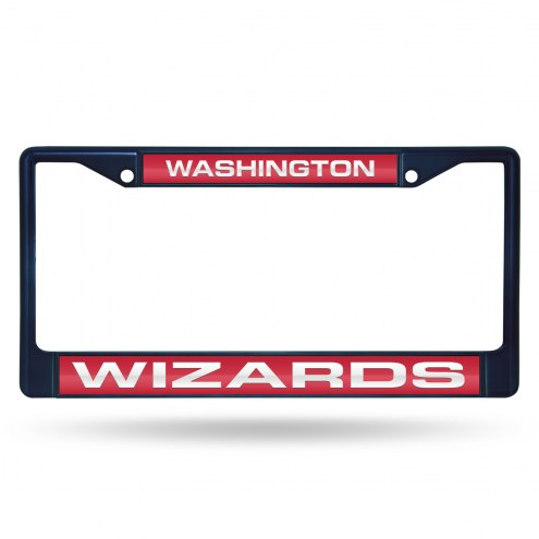Washington Wizards Laser Colored Chrome License Plate Frame