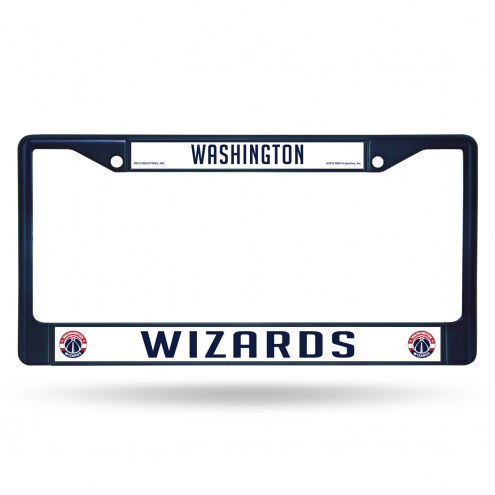 Washington Wizards Navy Colored Chrome License Plate Frame
