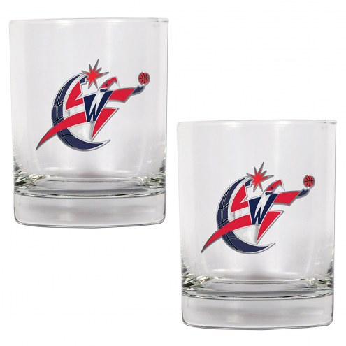 Washington Wizards NBA 2-Piece 14 Oz. Rocks Glass Set