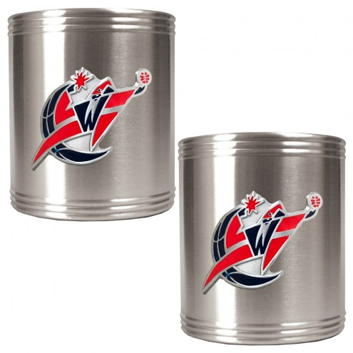 Washington Wizards NBA Stainless Steel Can Holder 2-Piece Set