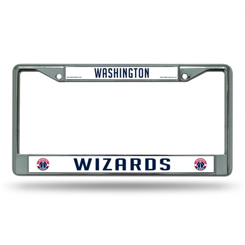 Washington Wizards Chrome License Plate Frame