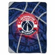 Washington Wizards Shadow Play Plush Raschel Blanket