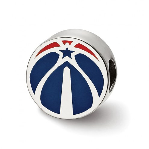Washington Wizards Sterling Silver Enameled Bead