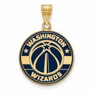 Washington Wizards Sterling Silver Gold Plated Large Enameled Pendant
