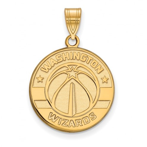Washington Wizards Sterling Silver Gold Plated Large Pendant