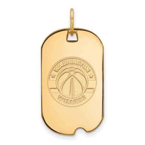 Washington Wizards Sterling Silver Gold Plated Small Dog Tag