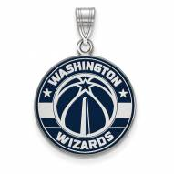 Washington Wizards Sterling Silver Large Enameled Pendant