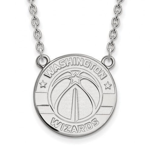 Washington Wizards Sterling Silver Large Pendant Necklace