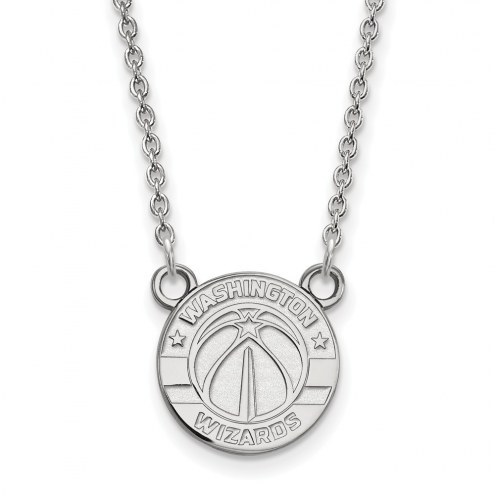 Washington Wizards Sterling Silver Small Pendant Necklace