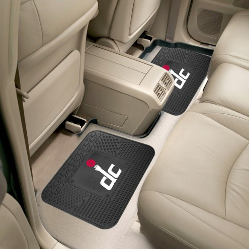 Washington Wizards Vinyl 2-Piece Rear Floor Mats