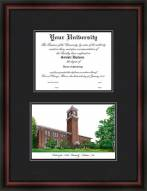 Washington State University Diplomate Framed Lithograph with Diploma Opening