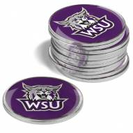 Weber State Wildcats 12-Pack Golf Ball Markers