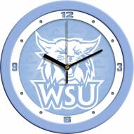 Weber State Wildcats Baby Blue Wall Clock