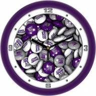 Weber State Wildcats Candy Wall Clock