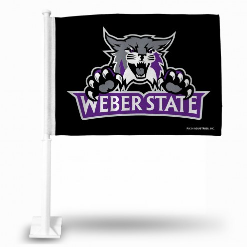 Weber State Wildcats College Car Flag