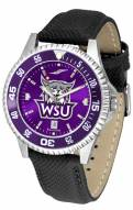 Weber State Wildcats Competitor AnoChrome Men's Watch - Color Bezel
