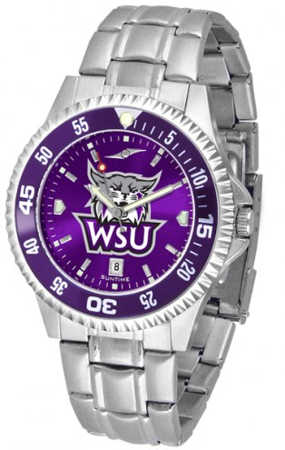 Weber State Wildcats Competitor Steel AnoChrome Color Bezel Men's Watch