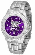 Weber State Wildcats Competitor Steel AnoChrome Men's Watch