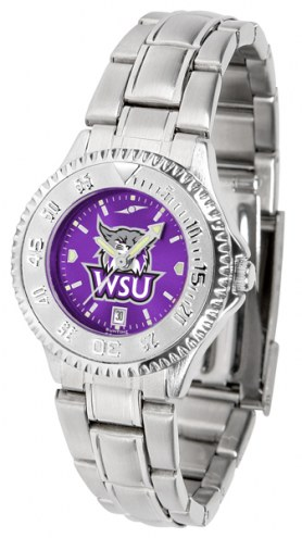 Weber State Wildcats Competitor Steel AnoChrome Women's Watch