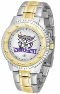 Weber State Wildcats Competitor Two-Tone Men's Watch