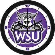Weber State Wildcats Dimension Wall Clock