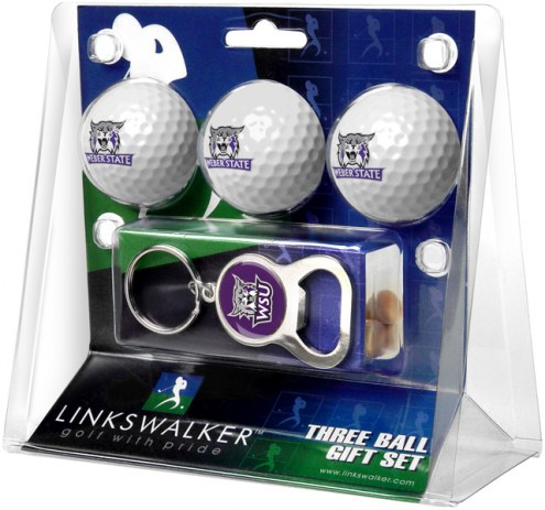 Weber State Wildcats Golf Ball Gift Pack with Key Chain