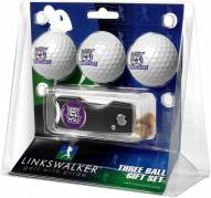 Weber State Wildcats Golf Ball Gift Pack with Spring Action Divot Tool