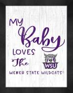 Weber State Wildcats My Baby Loves Framed Print