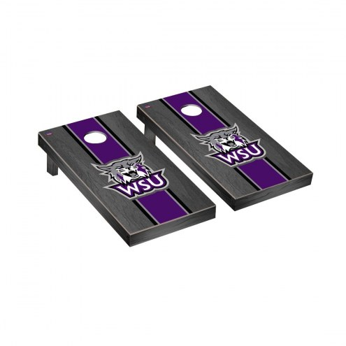 Weber State Wildcats Onyx Stained Cornhole Game Set