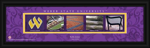 Weber State Wildcats Personalized Campus Letter Art