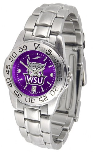 Weber State Wildcats Sport Steel AnoChrome Women's Watch