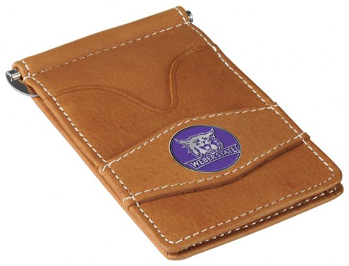 Weber State Wildcats Tan Player's Wallet