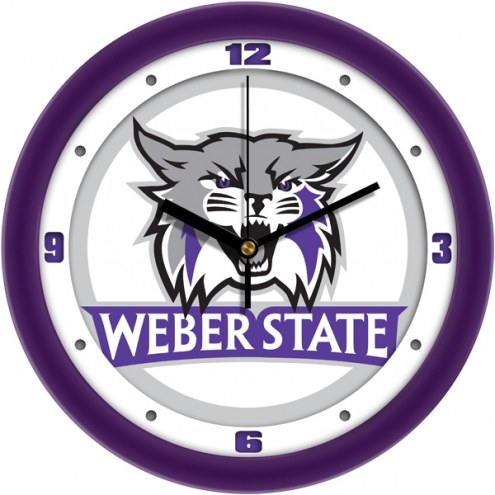 Weber State Wildcats Traditional Wall Clock
