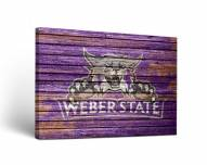 Weber State Wildcats Weathered Canvas Wall Art