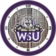 Weber State Wildcats Weathered Wood Wall Clock