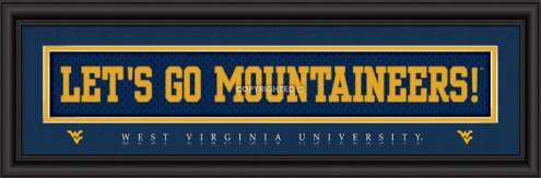 """West Virginia """"Let's Go Mountaineers!"""" Stitched Jersey Framed Print"""